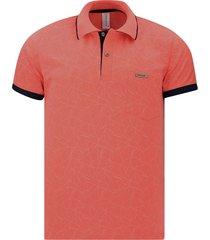camiseta tipo polo coral puntazul con bolsillo