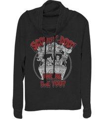 fifth sun scooby-doo where are you spooky monster van cowl neck juniors pullover fleece