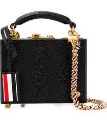 thom browne leather micro attaché case - black