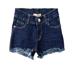 shorts doc kids milena ii jeans - azul - menina - algodã£o - dafiti