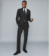 reiss trust - slim fit travel blazer in black, mens, size 46l