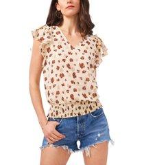 1.state women's v-neck flutter sleeve smock top