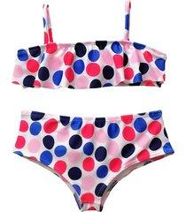 bikini multicolor brillantina azucena grande