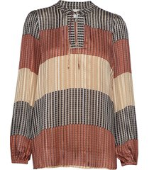 board ls blouse blouse lange mouwen multi/patroon second female