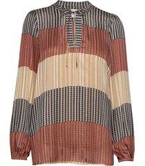 board ls blouse blouse lange mouwen multi/patroon second female