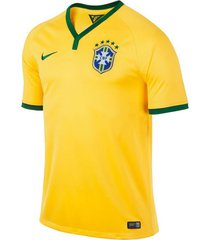 camiseta camiseta brasil hombre nike fr575297-703l amarillo