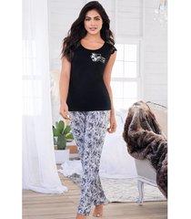 pijama mujer conjunto pantalón manga corta 11521
