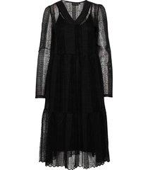 croquetkb lace dress knälång klänning svart karen by simonsen