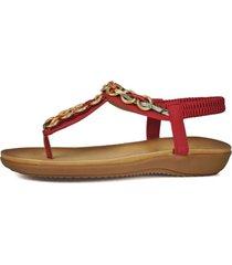 sandalia falak rojo eda manzini