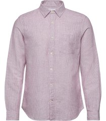 button-front shirt in linen-cotton skjorta casual rosa gap