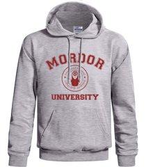 mordor university lotr color light steel/heather grey hoodie s to 3xl