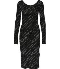 jeanie jurk knielengte zwart baum und pferdgarten