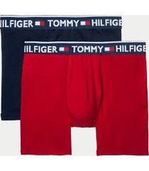 tommy hilfiger men's bold cotton boxer brief 2pk red/navy - m