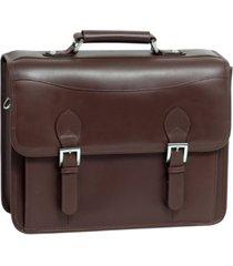 "siamod belvedere, 15"" double compartment laptop briefcase"