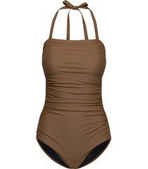 acapulco baddräkt badkläder brun scampi