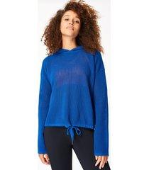 wimbledon mesh knitted hoodie