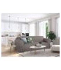 capa para sofá 3 lugares em gorgurão resistente sala decoração laços ajustáveis lisa mais vendidos cor grafite
