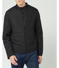 barbour international men's station quilted jacket - black - s