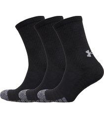 ua heatgear crew underwear socks regular socks svart under armour