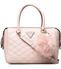 astrid box satchel bags top handle bags roze guess