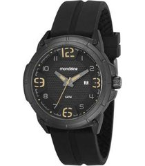 relógio masculino mondaine 53666gpmvpi1 48mm silicone