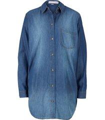 camicia di jeans extra lunga (blu) - john baner jeanswear