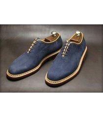 handmade men navy blue suede dress shoes mens suede shoes mens formal shoes