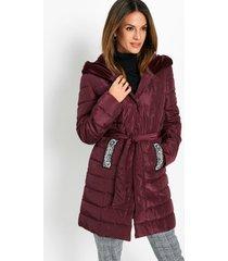 gewatteerde jas met fluweel