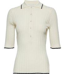 ella t-shirts & tops short-sleeved crème dagmar