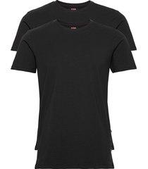 levis men solid crew 2p t-shirts short-sleeved svart levi´s