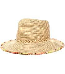 'mykonos' rainbow fringe fedora hat