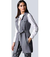 mouwloos vest alba moda grijs