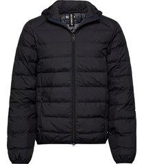 asp jacket man fodrad jacka svart ecoalf