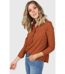 camisa marrón new liza
