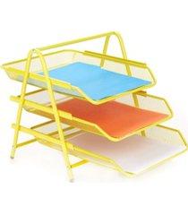 mind reader 3 tier paper tray desk organizer