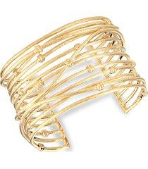 rivka friedman women's 18k yellow goldplated cuff bracelet