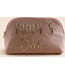 women's bride babe cosmetic pouch in blush by francesca's - size: one size