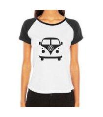 camiseta raglan criativa urbana carro antigo cássico kombi