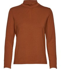 t-shirt l/s turtleneck polotröja brun brandtex