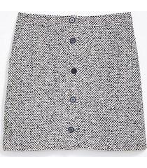 loft tall textured button pocket skirt