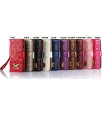 *new p-shine leather wallet flip case iphone 5/5s/5c/se iphone 6/6s plus