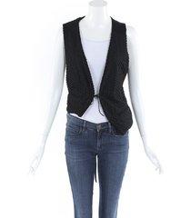 ann demeulemeester textured cotton vest