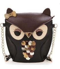 design little owl shoulder bags pu leatherhandbags creative stereoscopic minimes