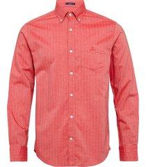 d1. herringb solid reg bd overhemd casual rood gant