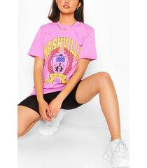 nashville collegiate print t-shirt, lilac