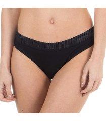 calcinha básica algodão egípcio preto - 578.025 marcyn lingerie básica preto
