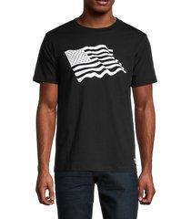 wesc men's max icon patriot t-shirt - black - size s
