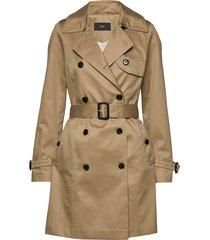 coats woven trenchcoat lange jas beige esprit collection
