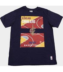 camiseta nba court cleveland cavaliers masculina