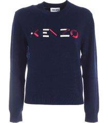 kenzo kenzo blue sweatshirt